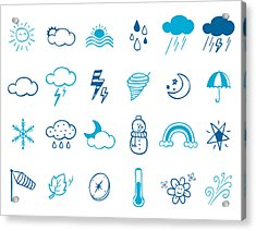 Wheater Icon Set Acrylic Print by Eastnine Inc.