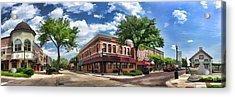 Wheaton Front Street Panorama Acrylic Print