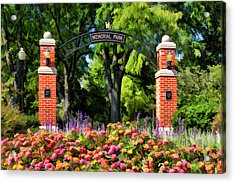 Wheaton Memorial Park Acrylic Print by Christopher Arndt