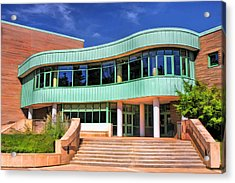 Wheaton Public Library Acrylic Print by Christopher Arndt