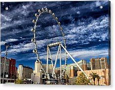 Wheel In The Sky Las Vegas Acrylic Print by Michael Rogers