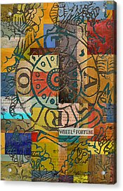 Wheel Of Fortune Acrylic Print by Corporate Art Task Force