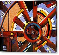Wheel Of Fortune Acrylic Print by JAXINE Cummins