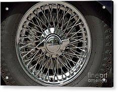 Wheel Of 1969 Jaguar E Type S2 Acrylic Print