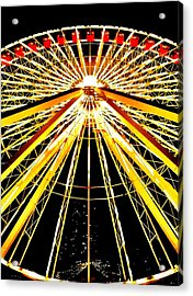 Wheel Of Light Acrylic Print by Benjamin Yeager