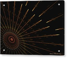 Acrylic Print featuring the digital art Wheel Of Time by Linda Whiteside