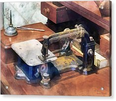 Wheeler And Wilson Sewing Machine Circa 1850 Acrylic Print by Susan Savad