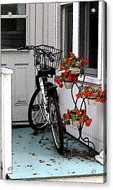 Wheels And Flowers Acrylic Print