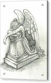 When Angels Weep 2 Acrylic Print by Lina Zolotushko