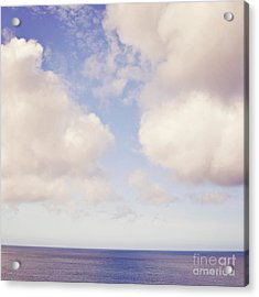 When Clouds Meet The Sea Acrylic Print by Lyn Randle