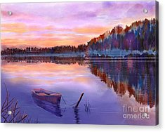 When Evening Falls  Acrylic Print by Joan A Hamilton