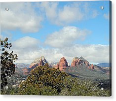 Acrylic Print featuring the photograph When Far Clouds Depart by Lynda Lehmann