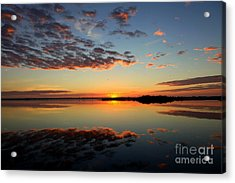 When Heaven Blankets The Earth Acrylic Print by Karen Wiles