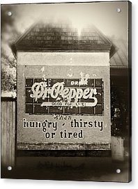 When Hungry Thirsty Or Tired Acrylic Print