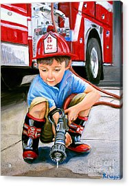 When I Grow Up Acrylic Print by Paul Walsh