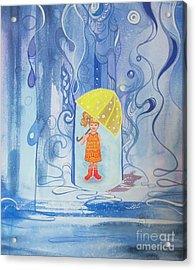 When It Rains It Pours Acrylic Print by Maya Simonson