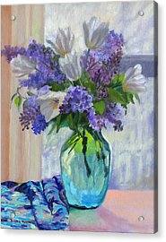 When Lilacs Bloomed Acrylic Print by Bonnie Mason