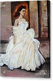 When Lovely Women II Acrylic Print by Helena Bebirian