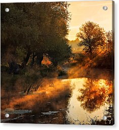 When Nature Paints With Light Acrylic Print by Jimbi