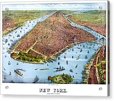 When New York Was Flat Acrylic Print by Georgia Fowler