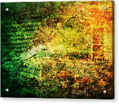 Acrylic Print featuring the mixed media When Past And Present Intersect #1 by Sandy MacGowan