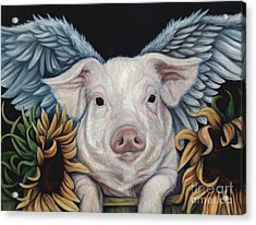 When Pigs Fly Acrylic Print by Lorraine Davis Martin