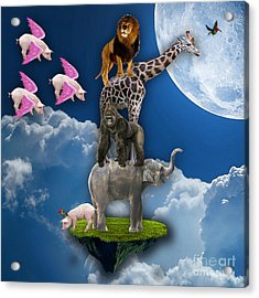 When Pigs Fly Acrylic Print by Marvin Blaine