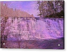 When Pink Falls Acrylic Print
