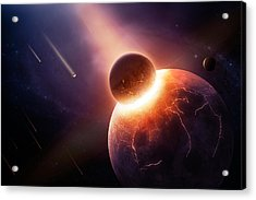 When Planets Collide Acrylic Print by Johan Swanepoel