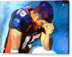 When Tebow Was A Bronco Acrylic Print by GCannon