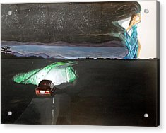 Acrylic Print featuring the painting When The Night Start To Walk Listen With Music Of The Description Box by Lazaro Hurtado