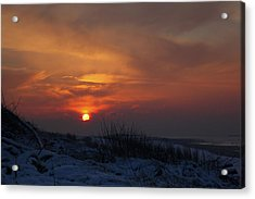 Acrylic Print featuring the photograph When The Sun Goes Down  by Annie Snel
