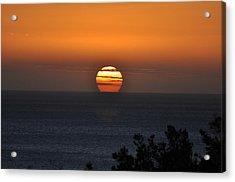 When The Sun Sets Acrylic Print by Sabine Edrissi