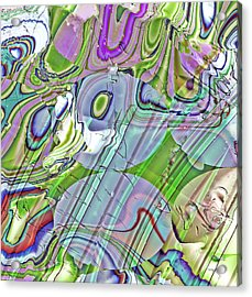 Acrylic Print featuring the digital art When Worlds Collide by Richard Thomas