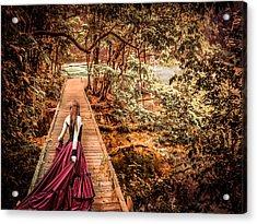 Where Is The Bridge Going? Acrylic Print by Catherine Arnas