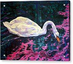 Where Lilac Fall Acrylic Print by Derrick Higgins