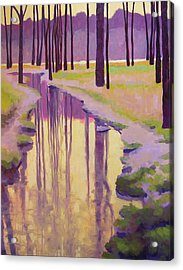 Where Nymphs Play Acrylic Print by Mary McInnis