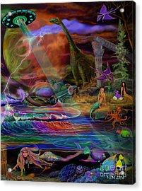 Where The Mermaids Meet Acrylic Print by Frances McCloskey