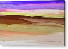Where The Moon Floats Just Right Acrylic Print by Lenore Senior