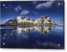Where The Mountains Meet The Sky Acrylic Print by Evelina Kremsdorf
