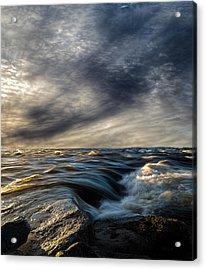 Where The River Kisses The Sea Acrylic Print by Bob Orsillo