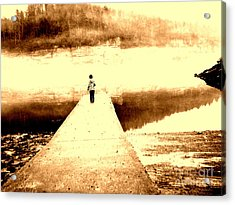 Where The Sidewalk Ends Acrylic Print by Amy Sorrell