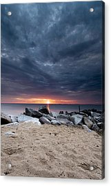 Where There Is Smoke There Is Fire Acrylic Print by Edward Kreis