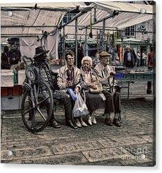 Which One Is The Statue Acrylic Print by Doc Braham