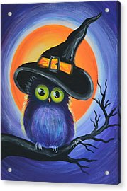 Acrylic Print featuring the painting Owl Spook You by Agata Lindquist