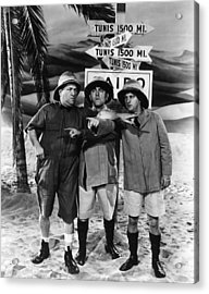Which Way To Tunis? Acrylic Print by The Three Stooges