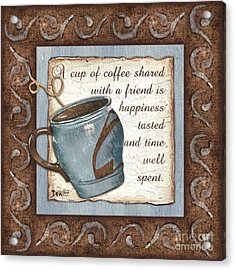 Whimsical Coffee 2 Acrylic Print by Debbie DeWitt
