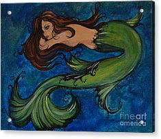 Whimsical Mermaid Acrylic Print by Valarie Pacheco