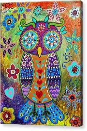 Whimsical Owl Acrylic Print