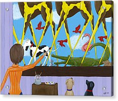 Whimsical Painting Acrylic Print by Christy Beckwith